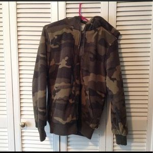 Fleece camo jacket